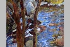 Etude de torrent. Aquarelle   15 x 10    2003