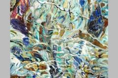 Baigneuse bleue  138 x 116  Acrylique sur papier marouflé  2016