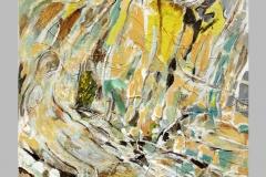 Grande baigneuse jaune  142 x 116  Acrylique sur papier marouflé  2015