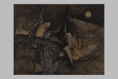 C79  Nocturne 50 x 80 encre -collage  1990
