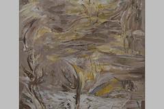 Grande table haute Acrylique sur toile . 195x 113   2004