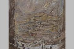 Porte-terrasse Acrylique sur toile  130x97  2002