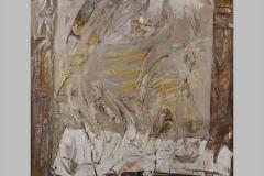 Table carrée  Acrylique sur toile 130x130  2002